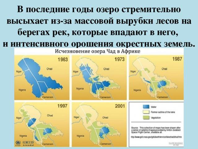 В последние годы озеро стремительно высыхает из-за массовой вырубки лесов на берегах рек, которые впадают в него,  и интенсивного орошения окрестных земель.