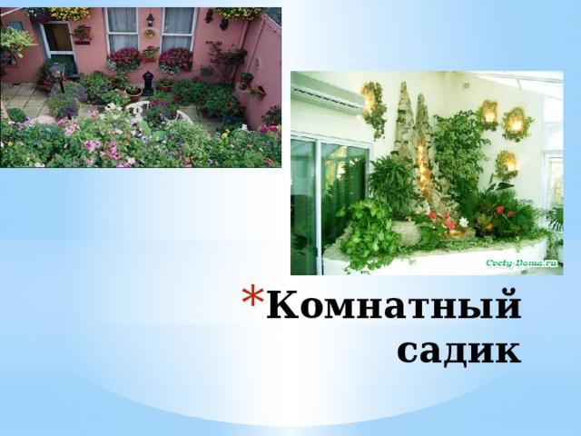 Комнатный садик