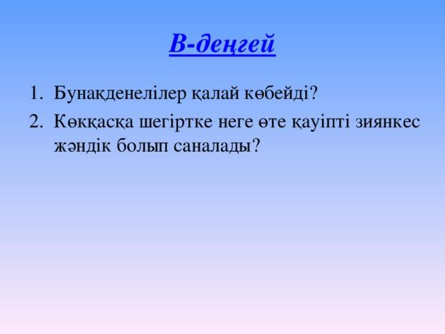 В-деңгей