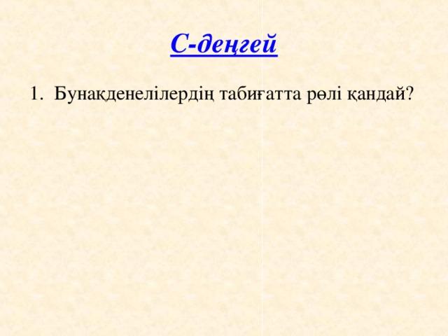 С-деңгей