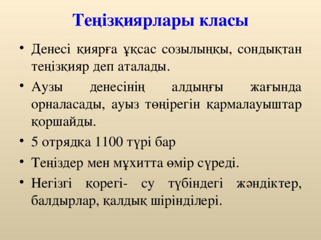 Теңізқиярлары класы