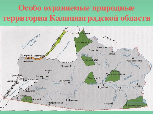Особо охраняемые природные территории Калининградской области