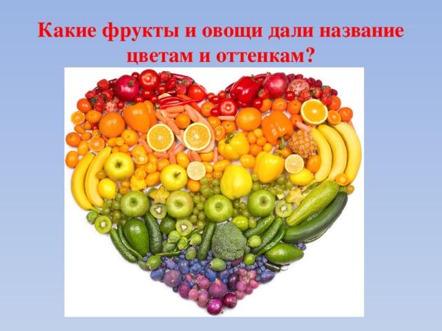 Какие фрукты и овощи дали название цветам и оттенкам?