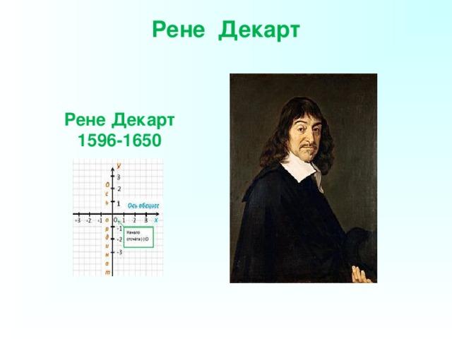 Рене Декарт   Рене Декарт 1596-1650