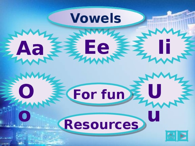 Vowels Ee Ii Aa Oo Uu For fun Resources