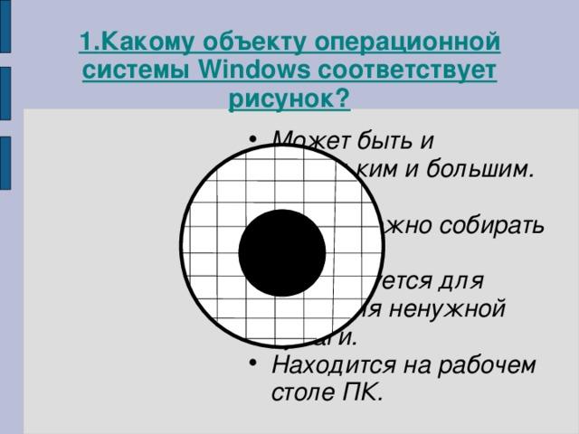 1. Какому объекту операционной системы Windows соответствует рисунок?