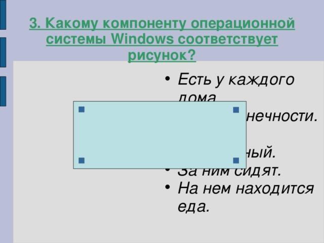 3. Какому компоненту операционной системы Windows соответствует рисунок?