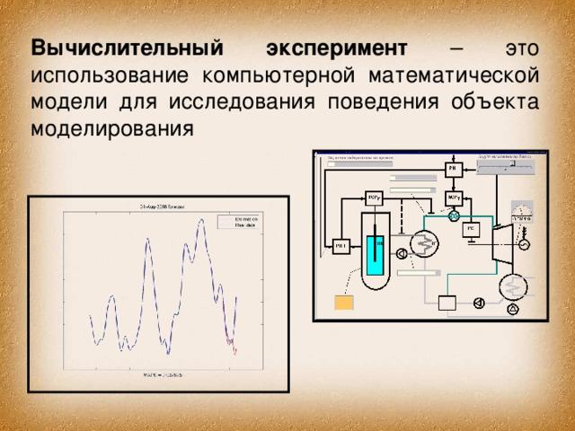Вычислительный эксперимент – это использование компьютерной математической модели для исследования поведения объекта моделирования