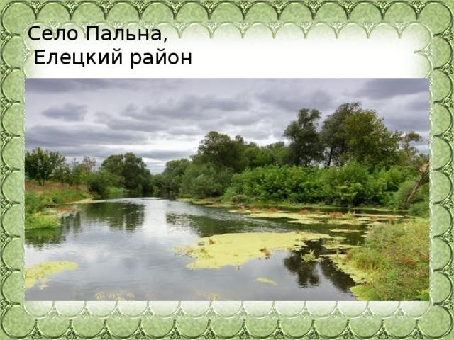 Село Пальна,  Елецкий район