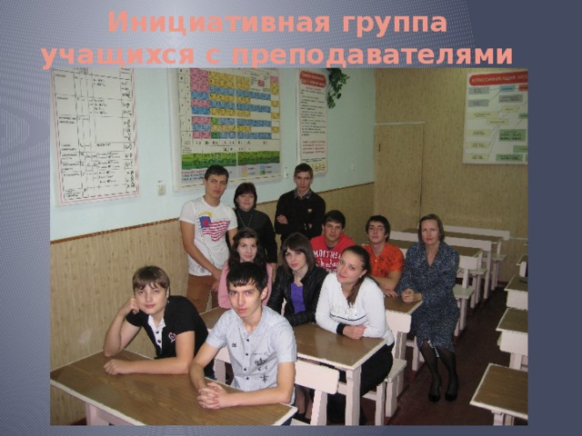 Инициативная группа учащихся с преподавателями