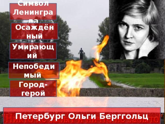 Символ Ленинграда Осаждённый Умирающий  Непобедимый Город-герой Петербург Ольги Берггольц