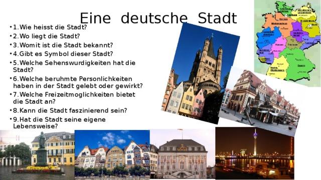 Eine deutsche Stadt