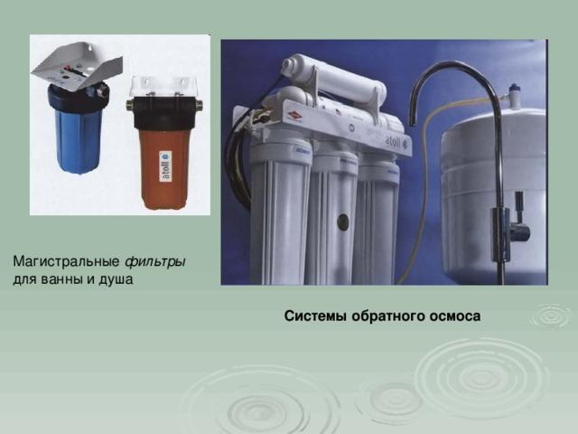 фильтры Системы обратного осмоса