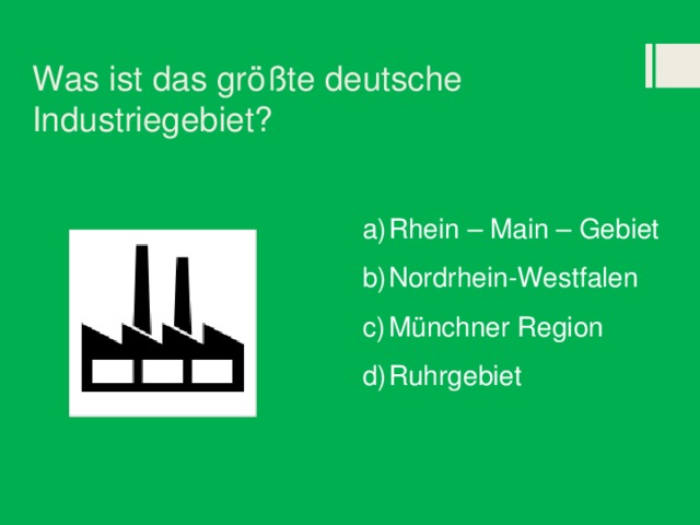 Was ist das größte deutsche Industriegebiet?
