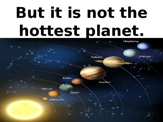 But it is not the hottest planet.