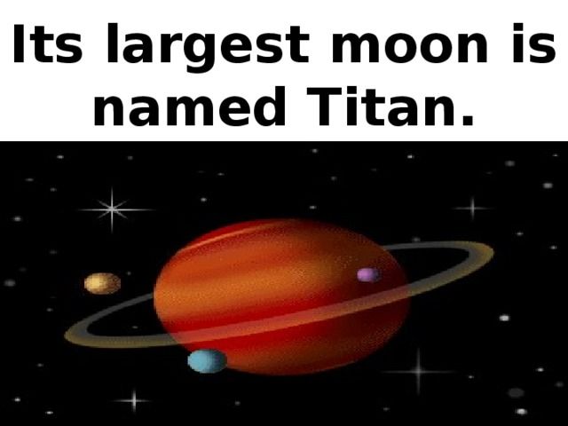Its largest moon is named Titan.