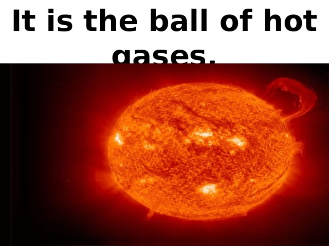 It is the ball of hot gases.