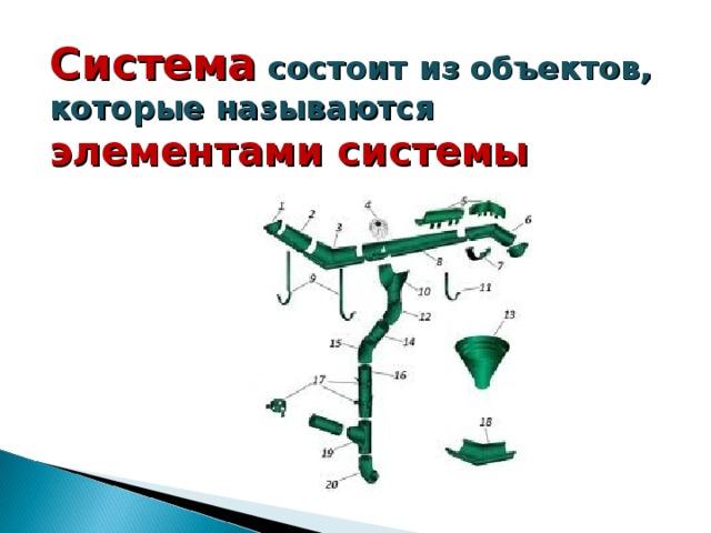 Система  состоит из объектов, которые называются элементами системы