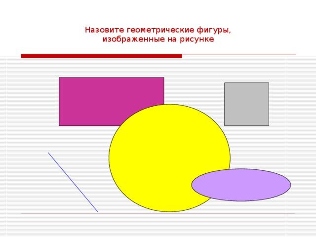 Назовите геометрические фигуры, изображенные на рисунке