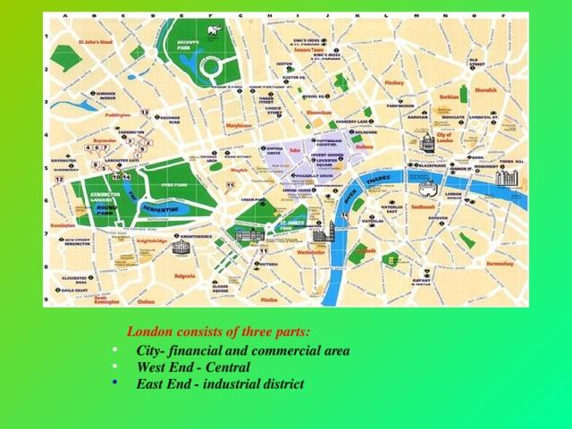 London consists of three parts:
