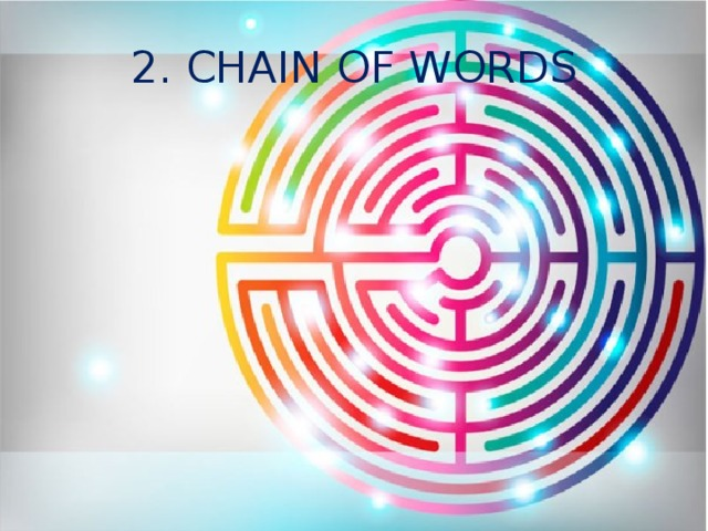 2. CHAIN OF WORDS