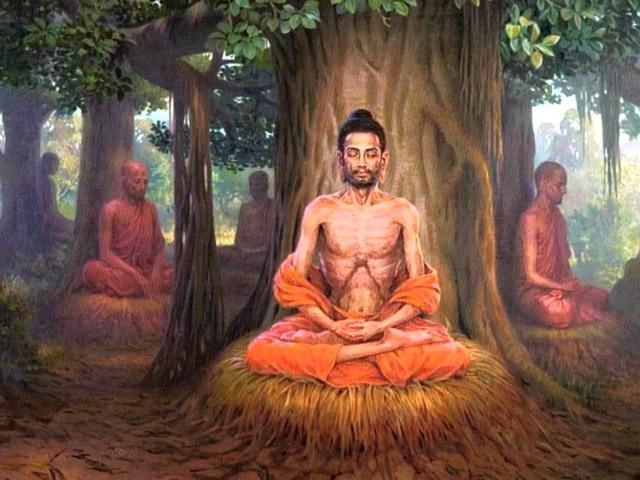 Эти истины состояли в том, что 1) в мире существует страдание; 2) существует причина страдания; 3) существует освобождение от страданий; состояние освобождение от страданий в индуизме называлось нирваной . 4) существует путь, ведущий к освобождению от страданий.