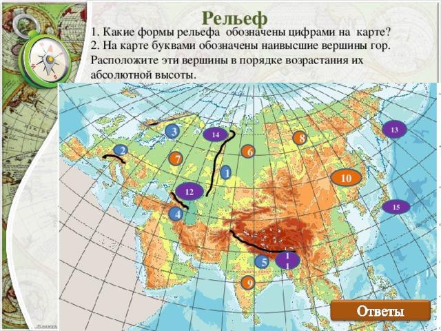 Рельеф Евразии