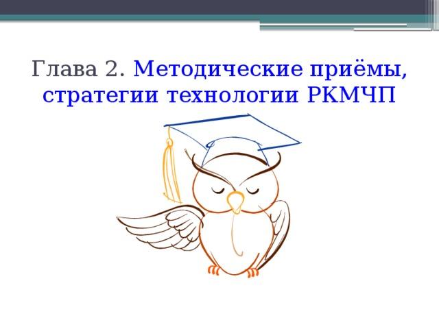 Глава 2. Методические приёмы, стратегии технологии РКМЧП
