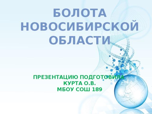 БОЛОТА Новосибирской области    Презентацию подготовила  Курта О.В.  МБОУ СОШ 189