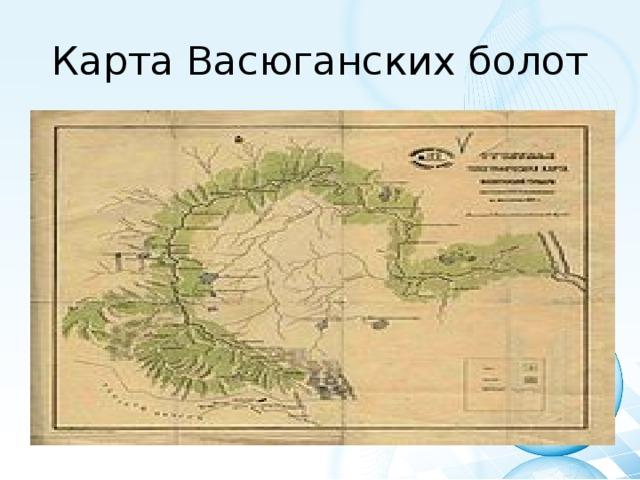 Карта Васюганских болот