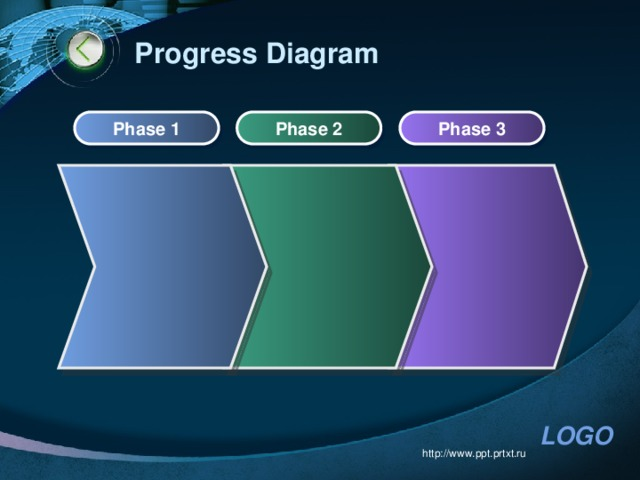 Progress Diagram Phase 1 Phase 2 Phase 3 http://www.ppt.prtxt.ru