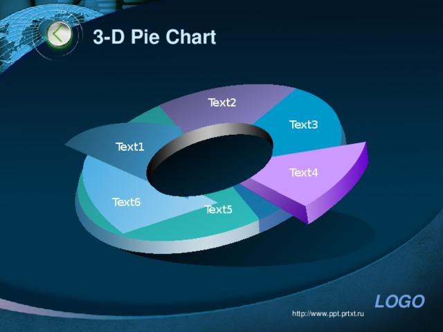 3-D Pie Chart Text2 Text3 Text1 Text4 Text6 Text5 http://www.ppt.prtxt.ru