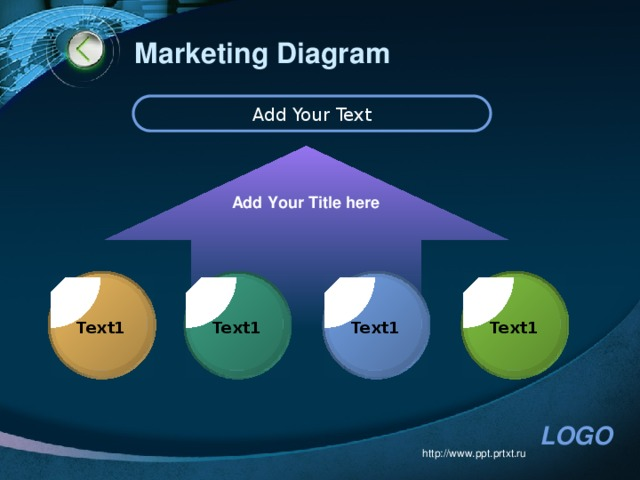 Marketing Diagram Add Your Text Add Your Title here Text1 Text1 Text1 Text1 http://www.ppt.prtxt.ru
