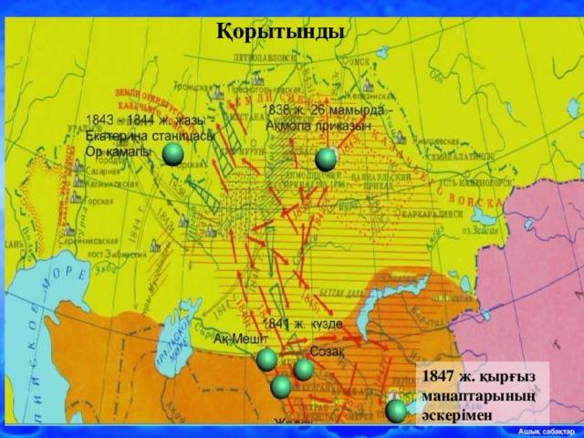 Қорытынды 1847 ж. қырғыз манаптарының әскерімен