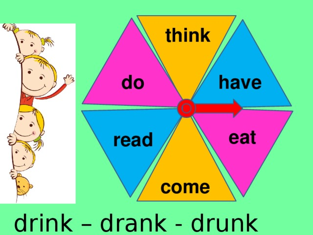 think have do eat read come drink – drank - drunk