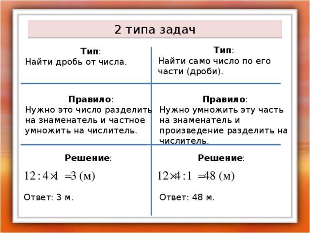 Решение задач на нахождение части числа решение задачи в выходные дни