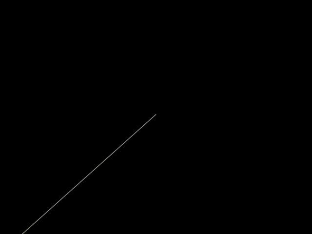 F ile E dit S earch R un C ompile D ebug T ools O ptions W indows H elp NONAME00.PAS Run Ctrl+F9 Strepover F8 Trace into F7 Go to cursur F4 Program reset Ctrl+F2 Parameters Program primer2; Uses crt,graph; Var vga,vgahi:integer; Begin Initgraph(vga,vgahi,'C:\Prog\tp7\Bgi'); Line(123,500,320,240); Readln; End.