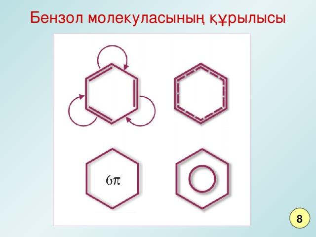 Бензол молекуласының құрылысы 8