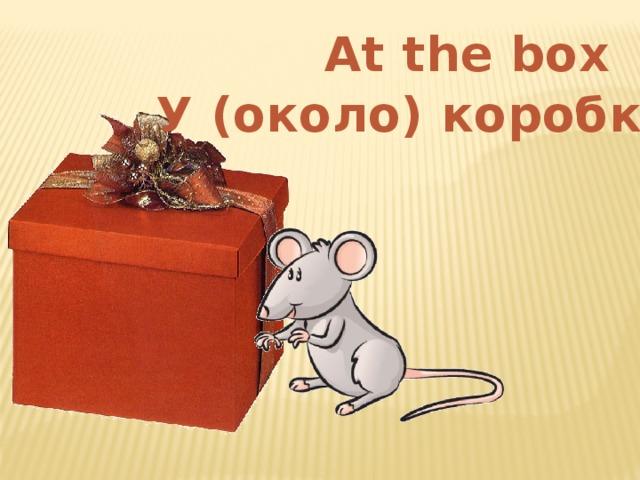 At the box У (около) коробки