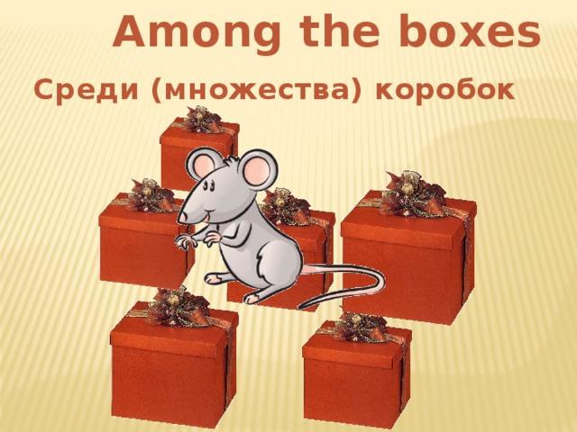 Among the boxes Среди (множества) коробок