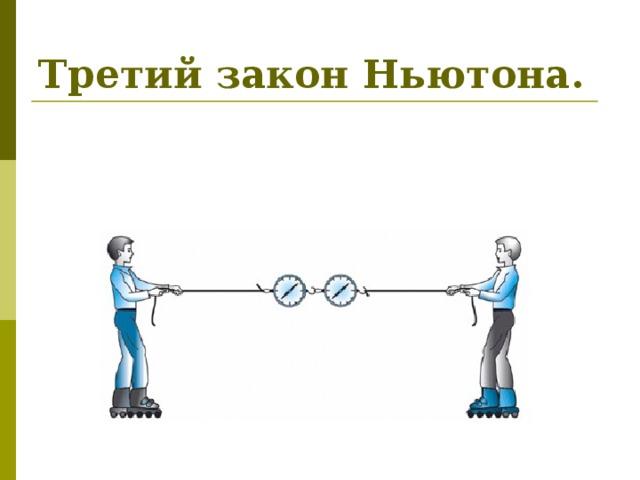 Третий закон Ньютона.