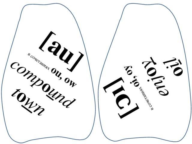 [au] в сочетаниях  ou, ow [ͻı] comp o u nd в сочетаниях oi, oy enj o y t o w n o i l