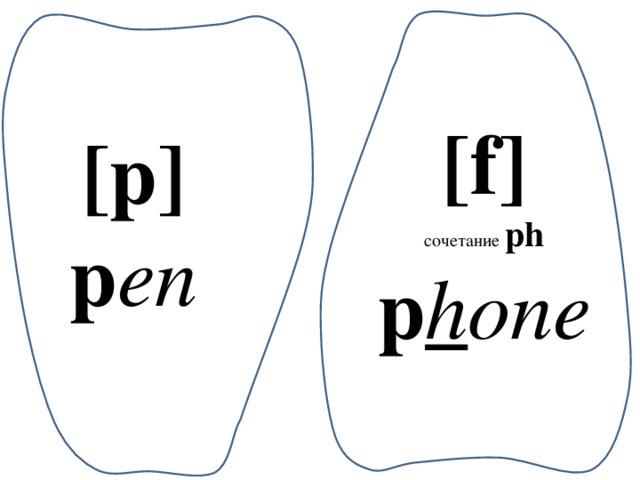 [f] сочетание  ph p h one [p] p en