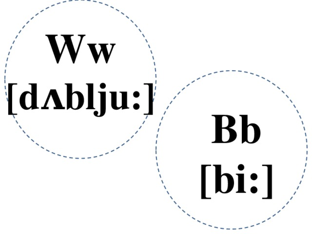 Ww [dᴧblju:] Bb [bi:]