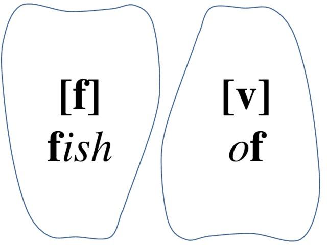 [f] [v] f ish o f