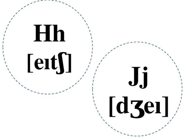 Hh [eıtʃ] Jj [dʒeı]