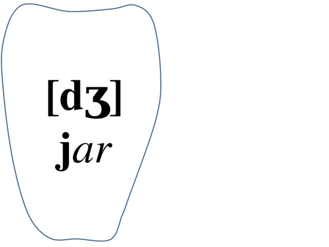 [dʒ] j ar