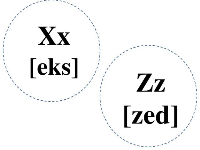 Xx [eks] Zz [zed]