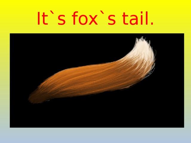 It`s fox`s tail.