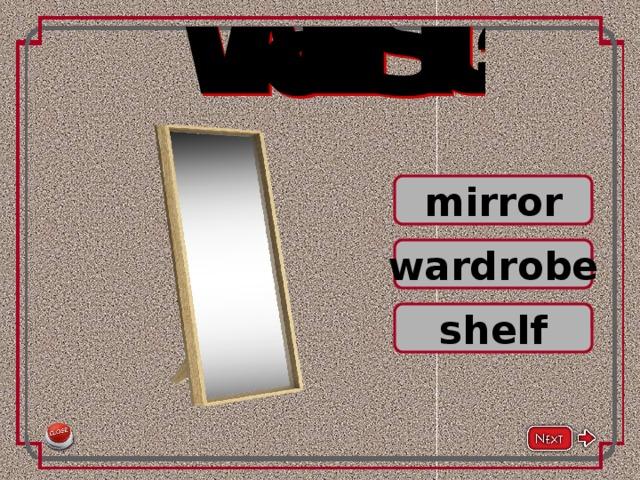 mirror wardrobe shelf